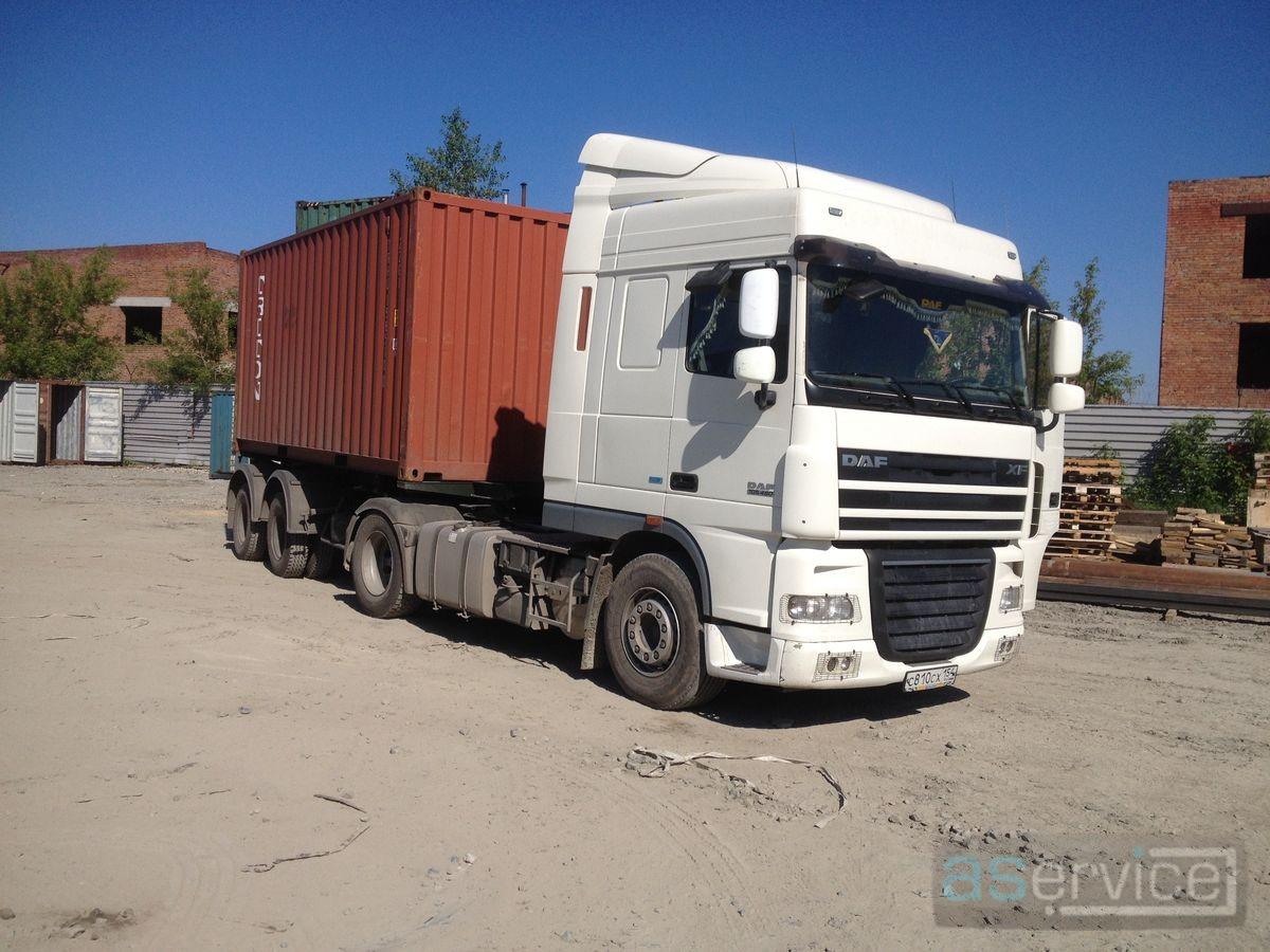 Перевозка контейнеров 40 футов автотранспортом