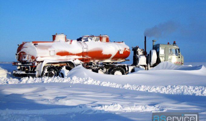 Перевозка топлива по зимнику