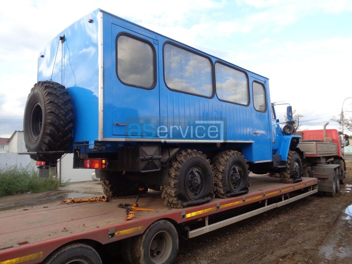 Перевозка вахтового автобуса УРАЛ из Иркутска в Билибино компания а-сервис 4